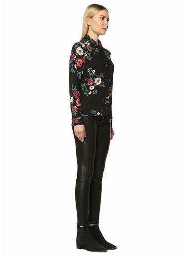 Çiçekli Gömlek Bluz-Glamorous